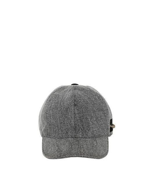 GI'N'GI   Серый Linen Baseball Hat