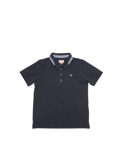 Armani Junior   Navy Cotton Piquè Polo Shirt