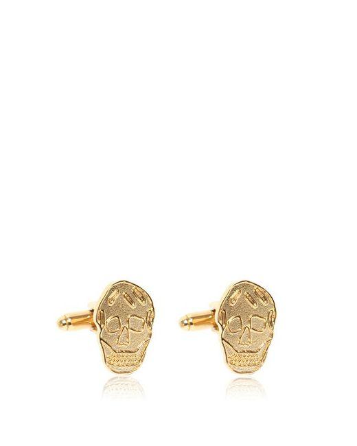 Alexander McQueen | Золотой Brass Skull Cufflinks