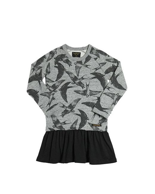 FINGER IN THE NOSE | Серый Printed Cotton Sweatshirt Jersey Dress