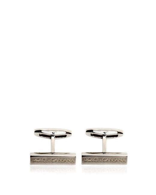 Dolce & Gabbana | Серебристый Logo Embossed Cufflinks