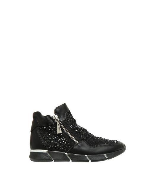 Florens | Чёрный Embellished Leather Suede Sneakers