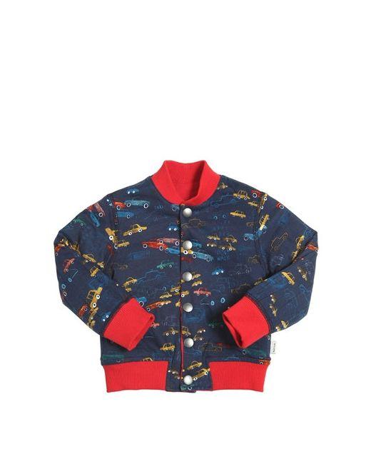 Paul Smith Junior   Красный Printed Reversible Cotton Bomber Jacket