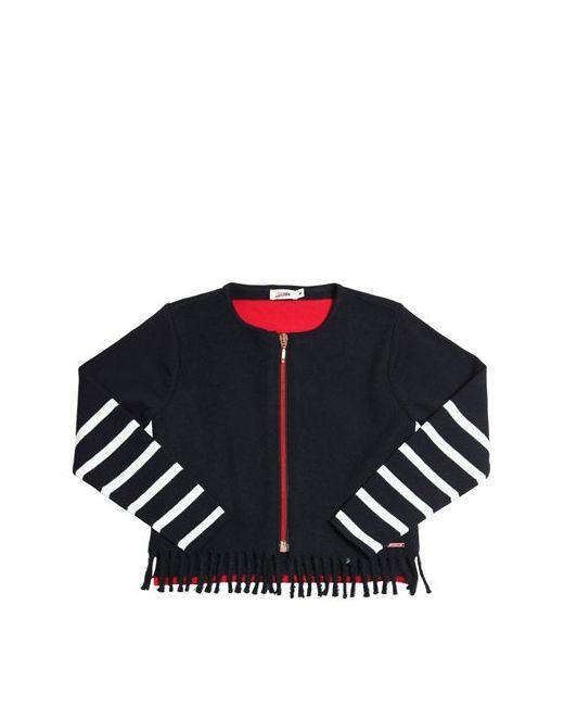 Junior Gaultier | Красный Wool Felt Cotton Knit Zip-Up Sweater
