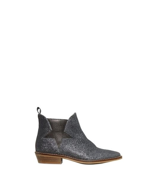 Stella Mccartney | Серебристый Glittered Faux Leather Ankle Boots