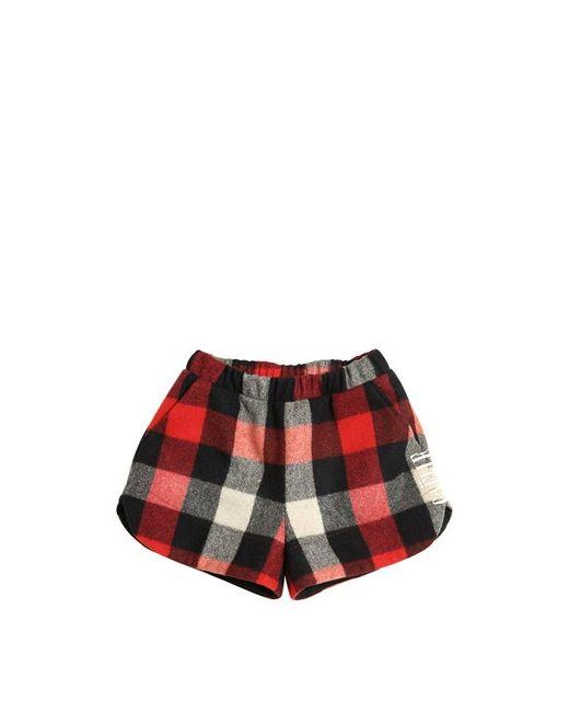 GAELLE PARIS | Чёрный Plaid Wool Blend Felt Shorts