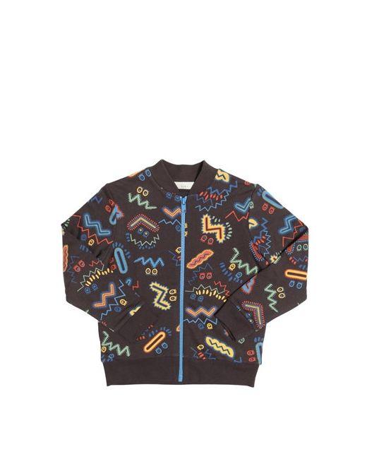 Stella Mccartney   Чёрный Zigzag Organic Cotton Bomber Jacket