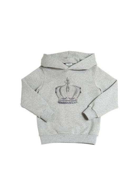 Dolce & Gabbana | Серый Hooded Royal Cotton Sweatshirt