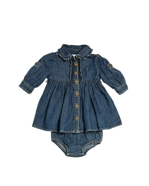 RALPH LAUREN CHILDRENSWEAR | Denim Dress Diaper Cover