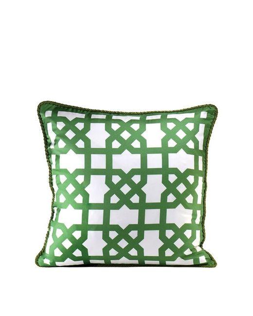 ALEXANDRA D.FOSTER | Белый London Printed Silk Pillow