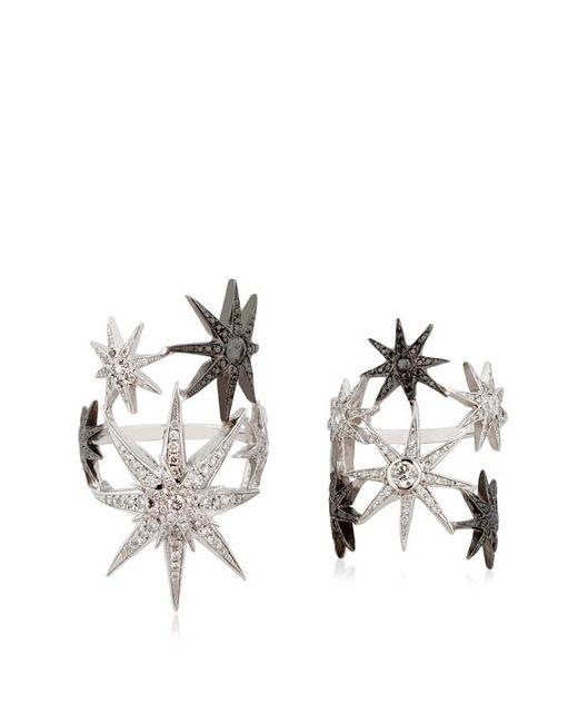 COLETTE JEWELRY   Чёрный White Star Ring Set