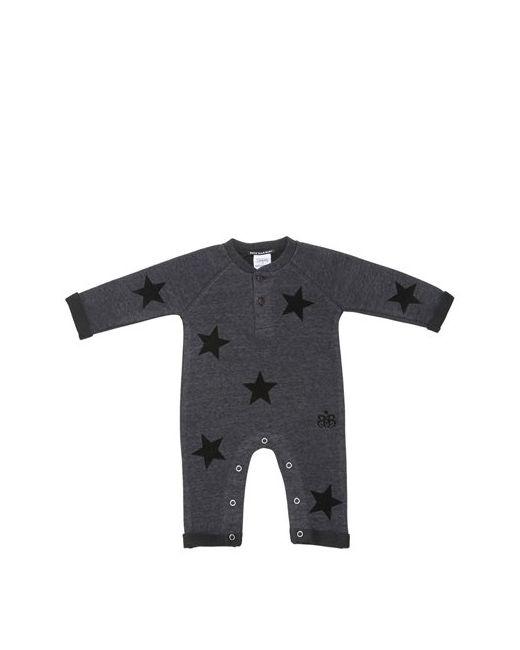 ROCK STAR BABY   Серый Star Printed Cotton Romper