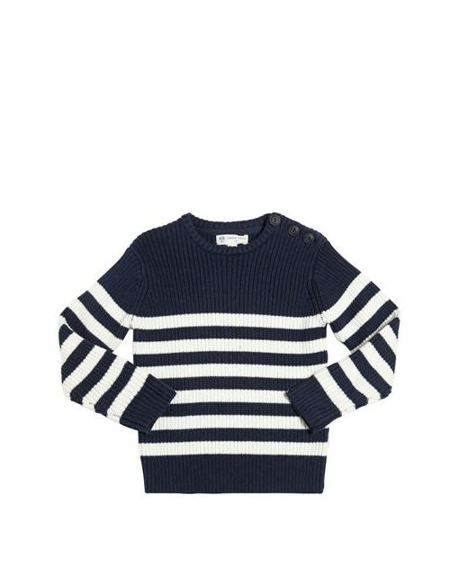 North Sails | Navy Striped Cotton Wool Blend Sweater