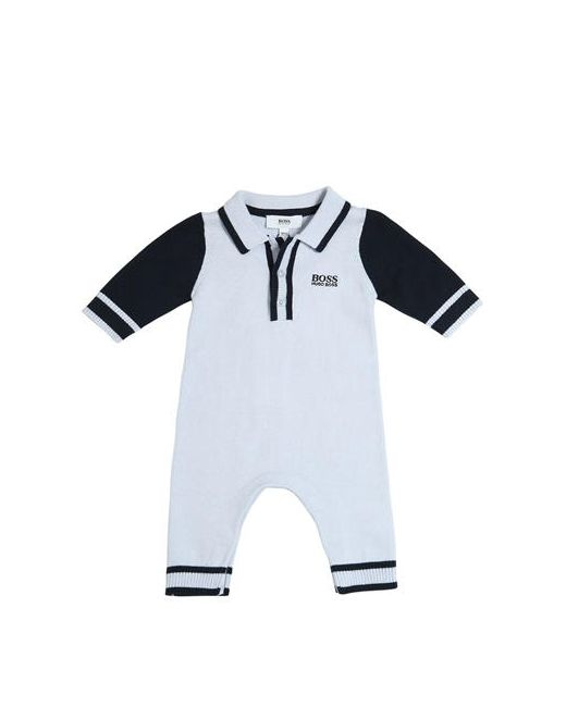 Hugo | Синий Embroidered Logo Cotton Knit Romper