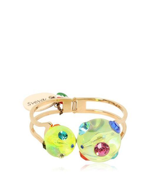 SVEVA   Желтый Cometa Hinge Bracelet
