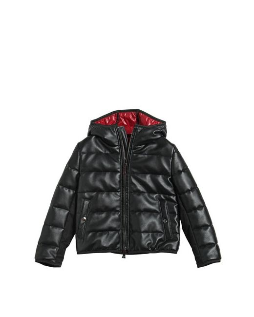 RICHMOND JUNIOR | Чёрный Faux Leather Nylon Down Jacket