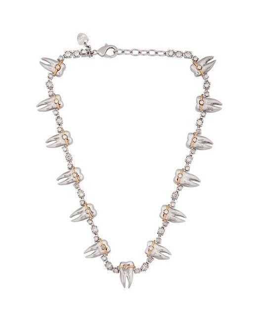 Schield | Золотой Teeth Braces Necklace