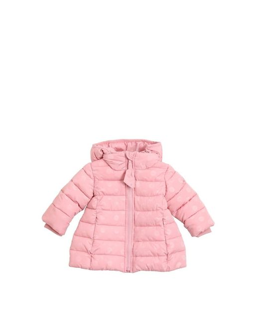 Mona Lisa | Розовый Polka Dots Printed Nylon Puffer Coat