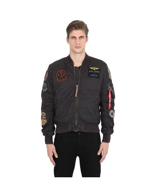 Alpha Industries | Чёрный Ma-1 Pilot Bomber Jacket W/ Patches
