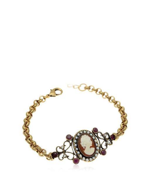 Alcozer & J | Золотой Cameo Chain Bracelet