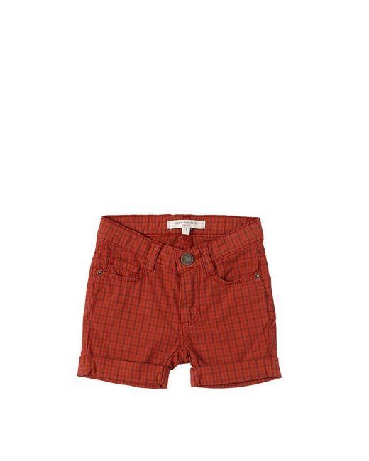 CARAMEL BABY AND CHILD   Красный Plaid Stretch Cotton Poplin Shorts