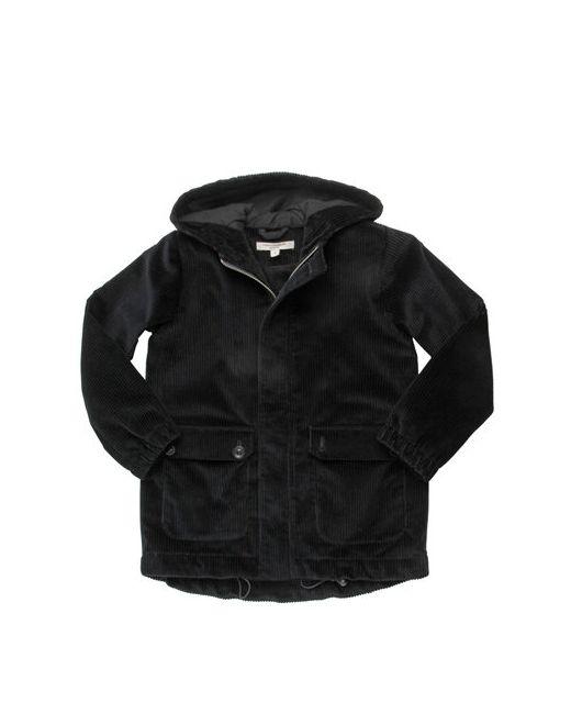 CARAMEL BABY AND CHILD | Чёрный Cotton Corduroy Hooded Coat