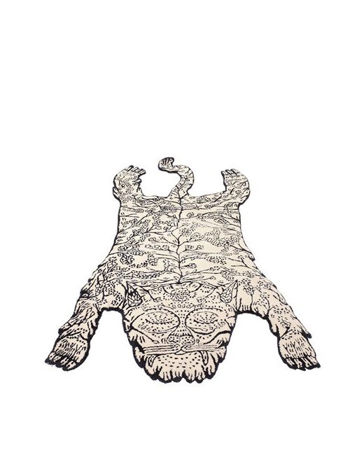 Mustache | Белый Big Tiger Wool Rug