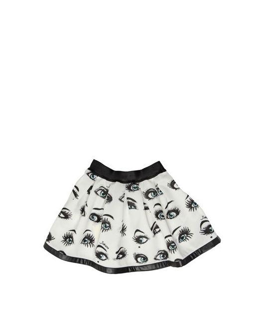 JAKIOO   Чёрный Eyes Printed Pleated Skirt