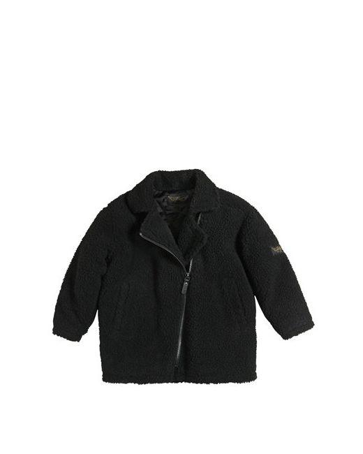 FINGER IN THE NOSE   Чёрный Faux Shearling Quilted Coat