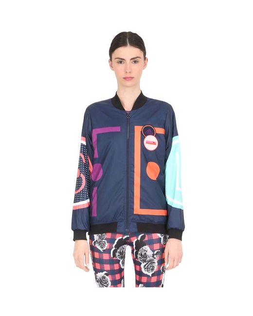Adidas By Stella  Mccartney | Синий Printed Padded Bomber Jacket