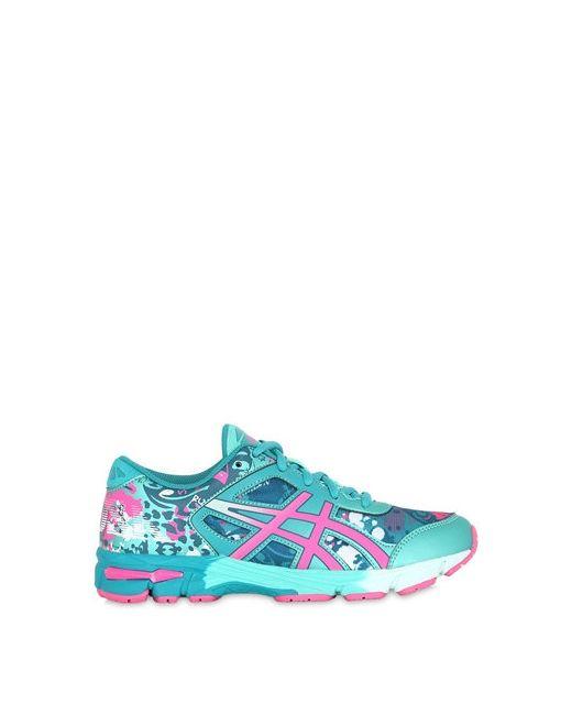 Asics | Aqua Printed Faux Leather Mesh Sneakers