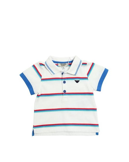 Armani Junior | Белый Striped Cotton Jersey Polo Shirt