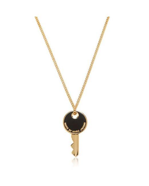 Marc by Marc Jacobs   Золотой Enameled Brass Key Pendant Necklace