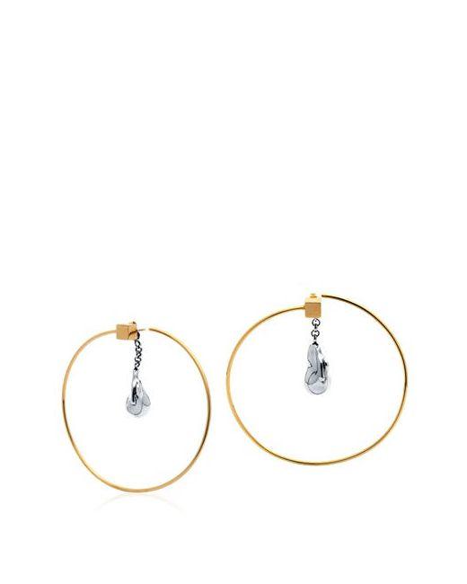 Caterina Zangrando | Золотой Zira Hoop Earrings With Drop