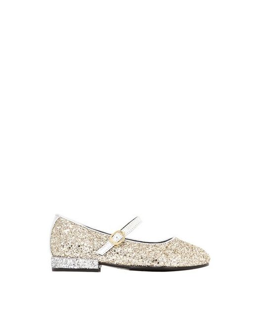 Simonetta | Золотой Maxi Glittered Leather Mary Janes