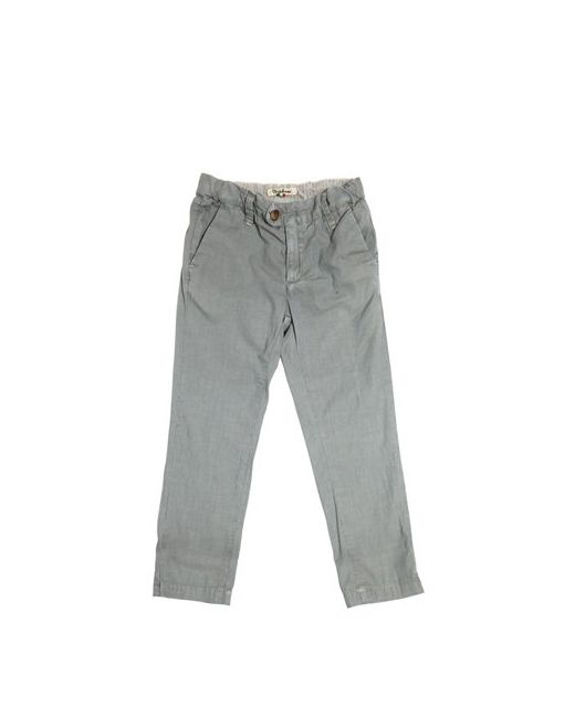 NUPKEET | Серый Slim Fit Striped Cotton Canvas Pants