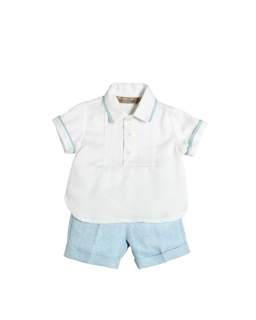 La Stupenderia | Белый Oxford Cotton Shirt Linen Shorts
