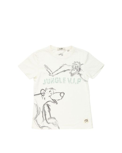 COURAGE&KIND | Белый Jungle V.I.P Cotton Jersey T-Shirt