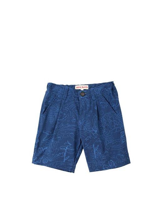ANNE KURRIS | Синий Printed Cotton Gabardine Shorts