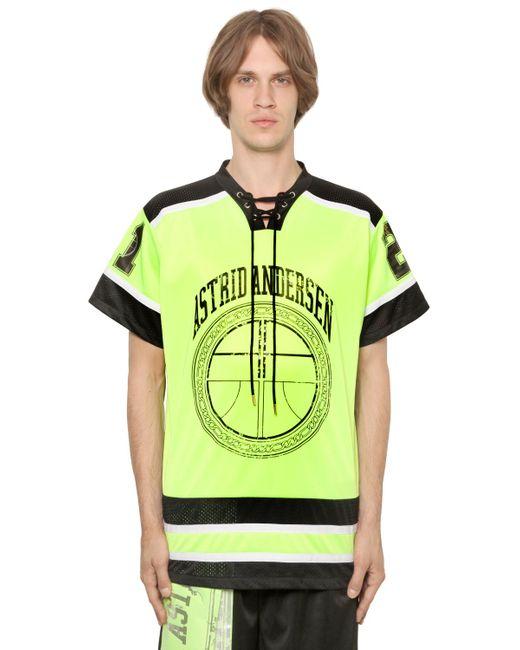 Astrid Andersen | Желтый Logo Printed Jersey Mesh T-Shirt