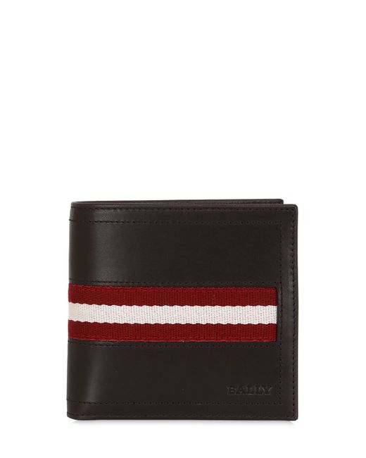 Bally | Chocolate Tye Leather Wallet With Coin Pocket