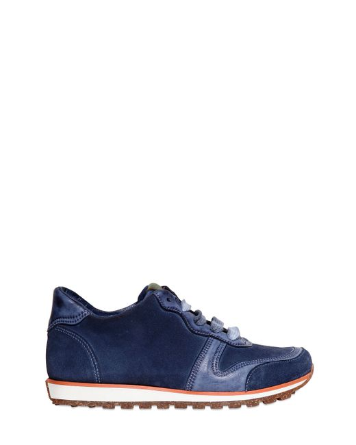 CARTA VETRATA | Синий Leather And Suede Running Sneakers