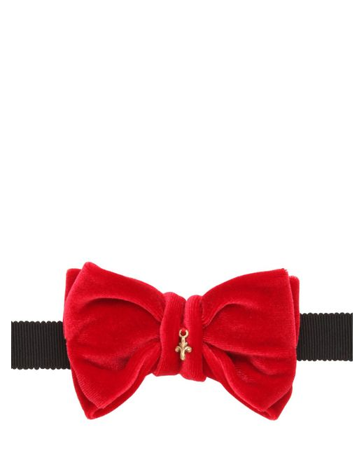 CHRISTIAN CORRENTI | Красный Velvet Bow Tie With Charm