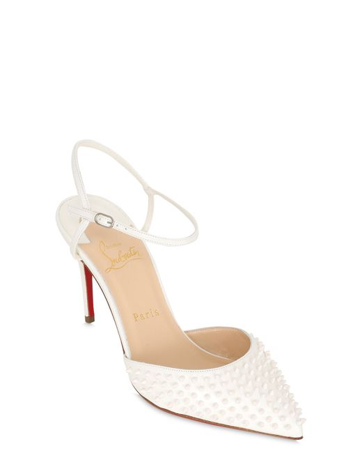 Christian Louboutin | Белый 85mm Baila Spike Leather Sandals