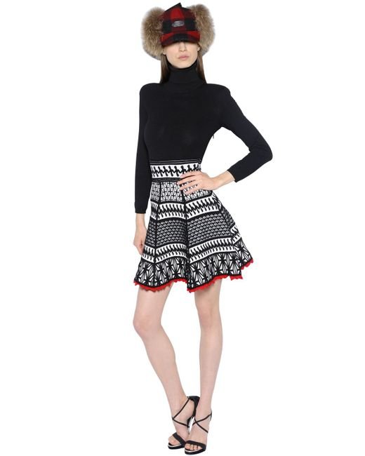 Dsquared2 | Чёрный High Collar Jacquard Knit Dress