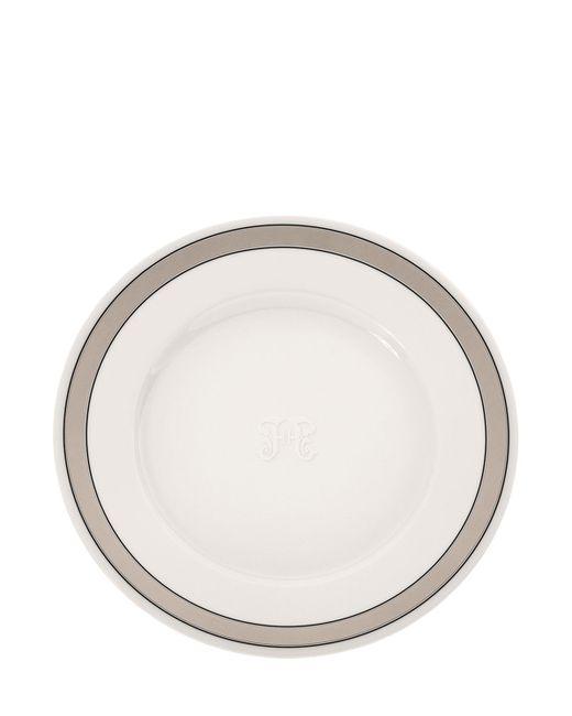 GIANFRANCO FERRÉ HOME   Белый Galles Set Of 6 Porcelain Dinner Plates