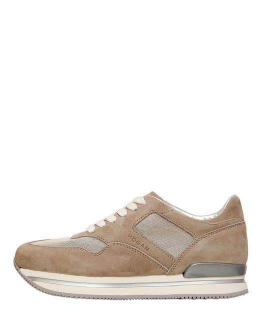 Hogan | Бежевый 50mm H22 Suede Nylon Sneakers