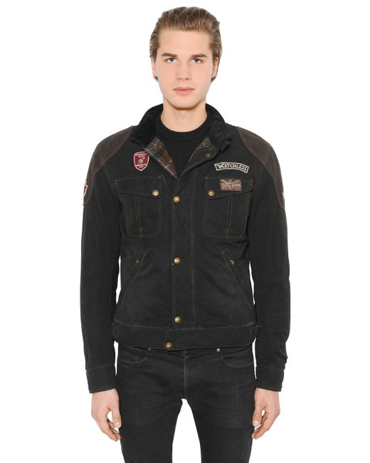 MATCHLESS LONDON | Чёрный Rebel Waxed Cotton Leather Jacket