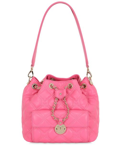 METROCITY | Fuchsia Small Quilted Leather Bucket Bag