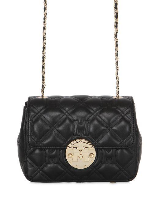 METROCITY   Чёрный Quilted Leather Shoulder Bag